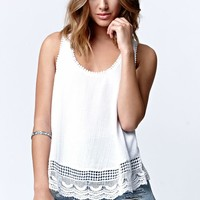 O'Neill Kenzie Scalloped Hem Racerback Tank Top - Womens Shirts