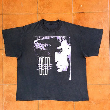 ON SALE Vintage 90's PETER Murphy Bauhaus Gothic Punk Shoegaze Tour 1990 Concert Size L Tee T shirt