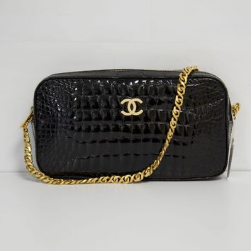 Chanel Black Crocodile Bag