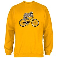 Bicycle Sloth Mens Sweatshirt