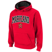 Maryland Terrapins Classic Arch Logo Twill Hoodie – Red