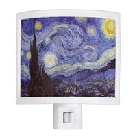 Vincent Van Gogh Starry Night Vintage Fine Art Night Light