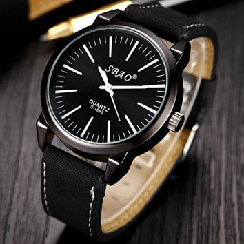 2016 watch men new fashion leisure sports life waterproof watches for men wrist watch military all blacks straps montre