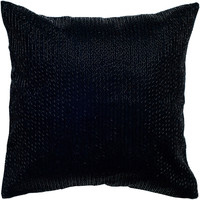 """Sequin and Embroidered Detail Black Pillow Cover (18"""" x 18"""")"""