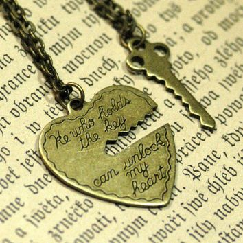 He Who Holds The Key 2 necklace set by ragtrader on Etsy