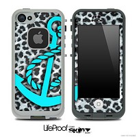 Real Leopard Turquoise Anchor Skin for the iPhone 5 or 4/4s LifeProof Case