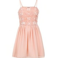 New Look Mobile | Teens Pink Sequin Strappy Dress