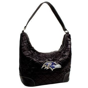 Baltimore Ravens NFL Quilted Hobo (Black)