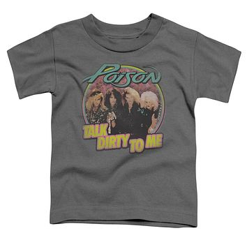 Poison Toddler T-Shirt Talk Dirty Charcoal Tee