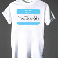 Mrs Justin Timberlake  Screenprint funny shirt , T shirt mens, t shirt girl, available size S,M,L,XL,XXL by  Grandongg