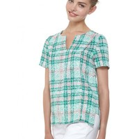 COOPER AND ELLA SADIE PANEL TOP - SPOT PLAID