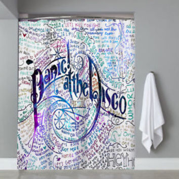 Top Famous Band Panic At The Disco Logo Custom Shower Curtain Limited Edition