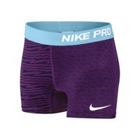 Nike Pro Core Compression Graphic Girls' Shorts - Bright Grape
