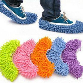 1PCS Cheap Shoes Covers Floor Cleaner Multifunction Dusting Floor Cleaning Shoe Covers For House Bathroom Floor Cleaning