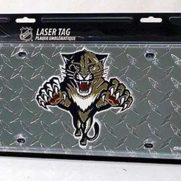 Florida Panthers NHL Laser Cut Diamond Plate License