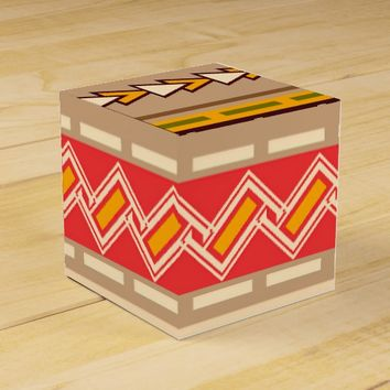 Bohemian Traditional Art Pattern Favor Box