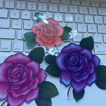 The SANA Set - 3 Large Rose Temporary Tattoos