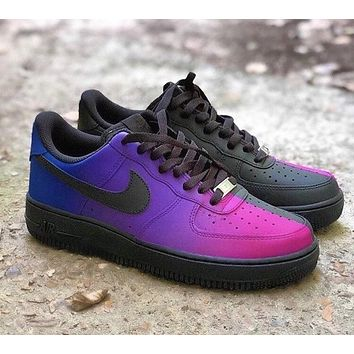 Custom Air Force 1 fade split
