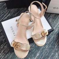 Gucci  Women Fashion Simple Casual  Heels Shoes