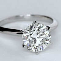 1.26ct Round Diamond Engagement Ring 18kt GIA certified JEWELFORME BLUE