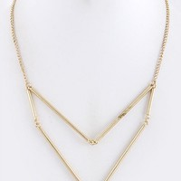 Chevron Metal Necklace