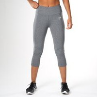 Gymshark DRY Sculpture Cropped Legging - Charcoal Marl