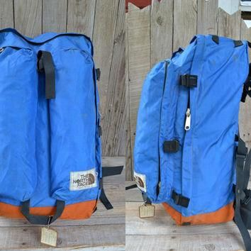 Vintage Brown Label THE NORTH FACE Two Tone Cordura Internal Fame Mountaineer Backpack
