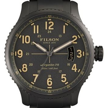 Men's Filson 'The Mackinaw Field' Bracelet Watch, 43mm