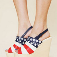 Irregular Choice Liberty Platform at Free People Clothing Boutique