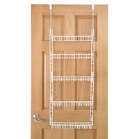 5 Tier Wire Over the Door Shelf - White