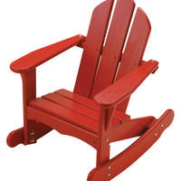 LITTLE COLORADO Slatted Adirondack Rocking Chair - Red