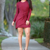 In Cahoots Dress - Burgundy