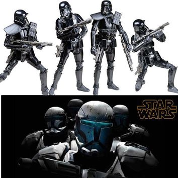 Star Wars Force Episode 1 2 3 4 5  Rogue One Black Series Figure Imperial Death Trooper Action Figure Model Stormtrooper Toys for Children Gift 6'' AT_72_6