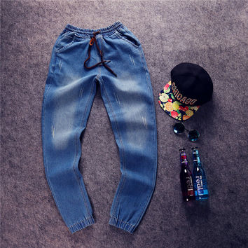 Vintage Men Pants Korean Plus Size Jeans [6528881027]