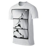 Jordan AJI Poster Reel Men's T-Shirt, by Nike Size XL (White)