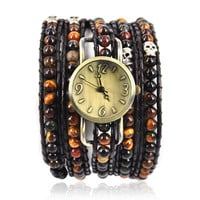 Handmade Tiger Eyes Wrap Watch on Luulla