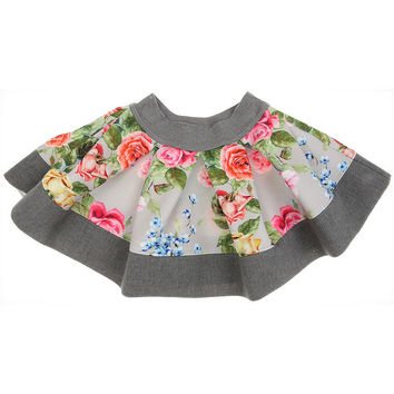 Monnalisa - Baby Girl Folk Fantasy Skirt with Flowers