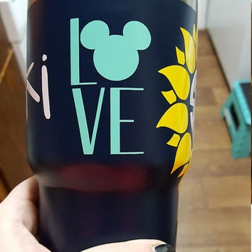 I LOVE Mickey Mouse Walt Disney World Vacation Macbook/Car/Yeti/Tumbler Vinyl Sticker