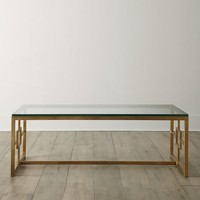 INTERLUDE Glass-Top Coffee Table