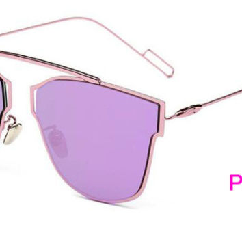 Flat Panel Lens Sunglasses  Purple