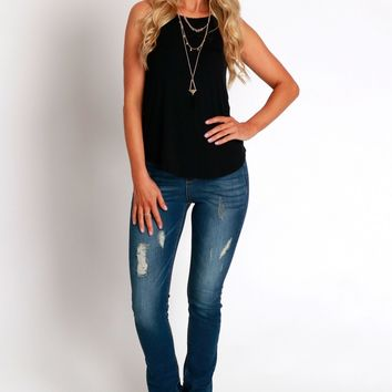 The Straight & Narrow Distressed Jeans