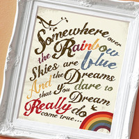 Over the Rainbow - Print for a Kid's Room