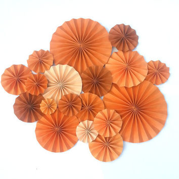 Orange Toned Pinwheel Decoration