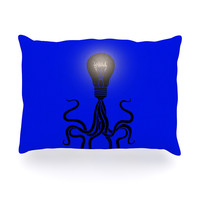 "BarmalisiRTB ""Octopus Bulb"" Blue Tentacles Oblong Pillow"