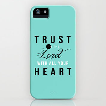 Proverbs 3:5 iPhone & iPod Case by Pocket Fuel