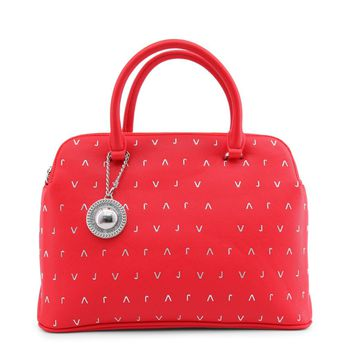 Versace Jeans Red Leather Handbag
