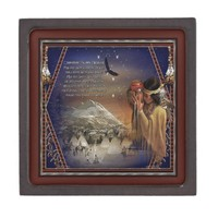 Cherokee Blessing Gift Box 3x3 Magnetic Premium Jewelry Boxes