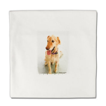 "Golden Retriever Watercolor Micro Fleece 14""x14"" Pillow Sham"