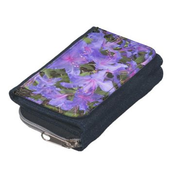Purple Rhododendrons Floral Wallet