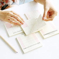 E34 Daily Weekly Month Planner Check List Portable Small Book Memo Pad Sticky Notes Paper Stickers Stationery School Supply